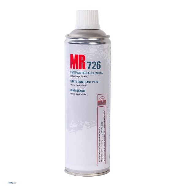 MR 726 Hvid kontrast maling (Lugtsvag)